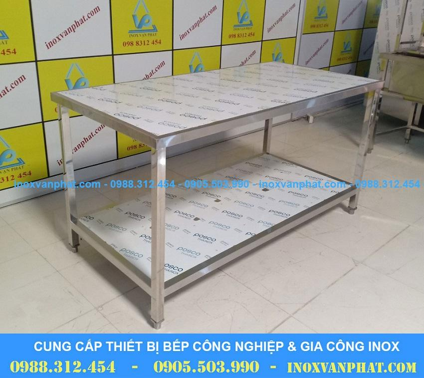 bàn inox 2 tầng CN