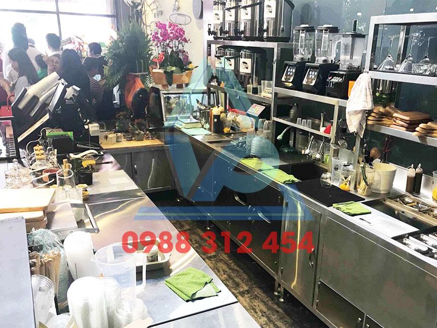 Quầy cafe inox