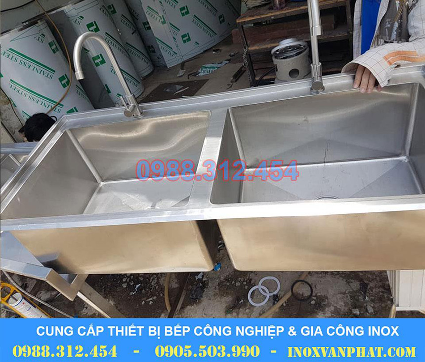 Chậu rửa cung cấp tại xưởng Inox Vạn Phát