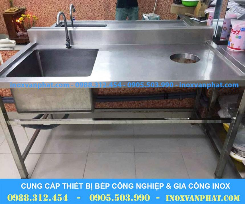 Chậu rửa inox công nghiệp sản xuất tại Inox 304 cao cấp