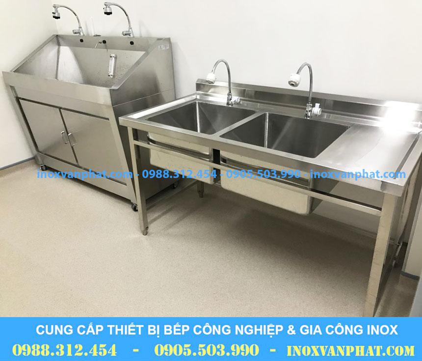Chậu rửa inox công nghiệp cung cấp tại Inox Vạn Phát