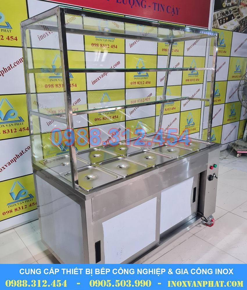 Tủ hâm nóng thức ăn sản xuất trực tiếp tại Inox Vạn Phát