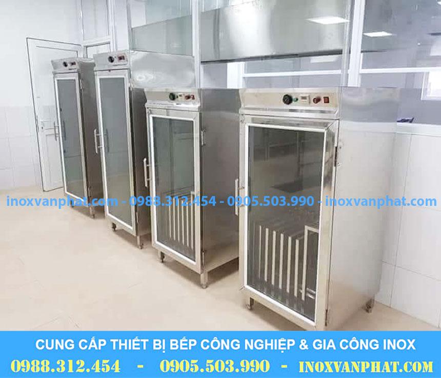 Tủ sấy chén công nghiệp áp dụng tại các gian bếp