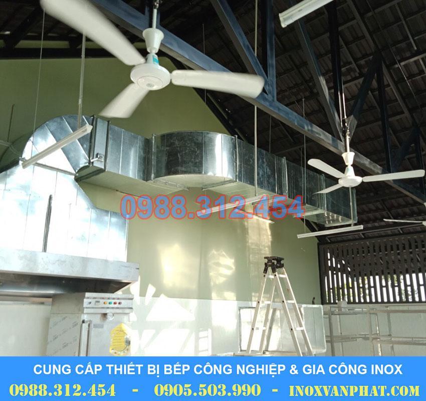 Hệ thống hút khói công nghiệp cung cấp tại Inox Vạn Phát